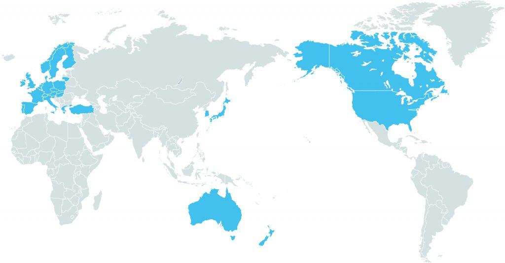 ユニセフ協会(国内委員会)がある国と地域